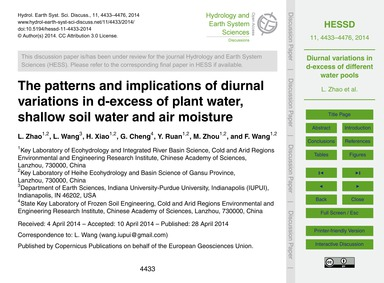 The Patterns and Implications of Diurnal... by Zhao, L.