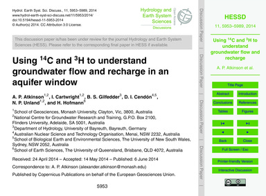 Using 14C and 3H to Understand Groundwat... by Atkinson, A. P.
