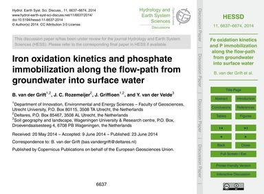 Iron Oxidation Kinetics and Phosphate Im... by Van Der Grift, B.