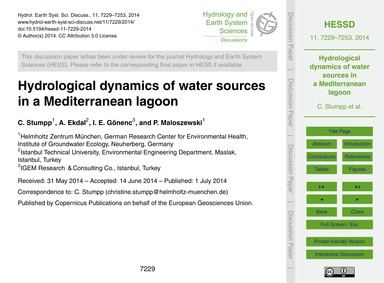 Hydrological Dynamics of Water Sources i... by Stumpp, C.