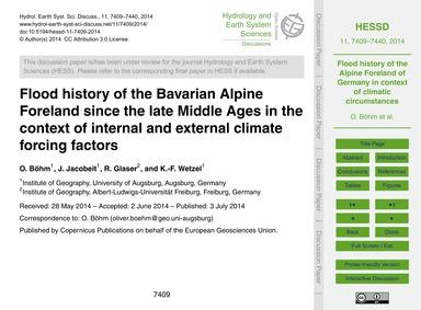 Flood History of the Bavarian Alpine For... by Böhm, O.