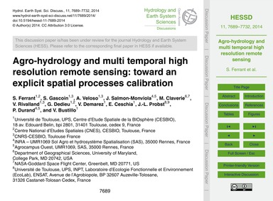 Agro-hydrology and Multi Temporal High R... by Ferrant, S.