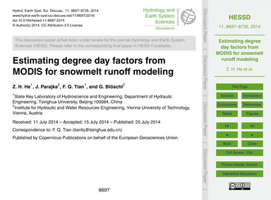 Estimating Degree Day Factors from Modis... by He, Z. H.