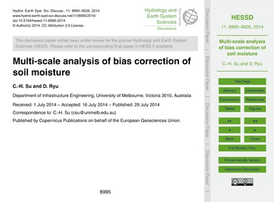 Multi-scale Analysis of Bias Correction ... by Su, C.-h.