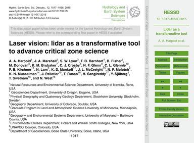 Laser Vision: Lidar as a Transformative ... by Harpold, A. A.