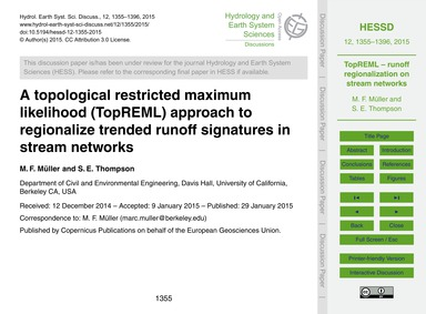 A Topological Restricted Maximum Likelih... by Müller, M. F.