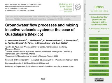 Groundwater Flow Processes and Mixing in... by Hernández-antonio, A.