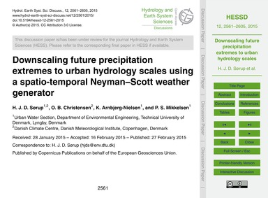 Downscaling Future Precipitation Extreme... by Sørup, H. J. D.