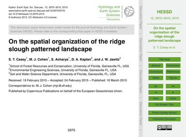 On the Spatial Organization of the Ridge... by Casey, S. T.