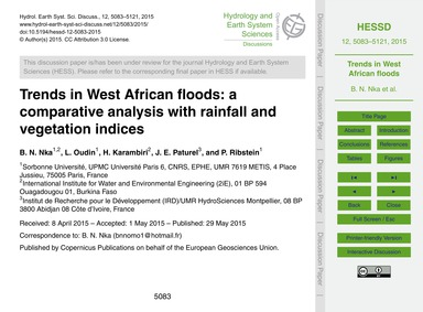 Trends in West African Floods: a Compara... by Nka, B. N.