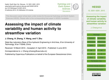 Assessing the Impact of Climate Variabil... by Chang, J.