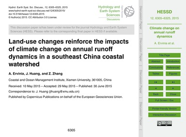 Land-use Changes Reinforce the Impacts o... by Ervinia, A.