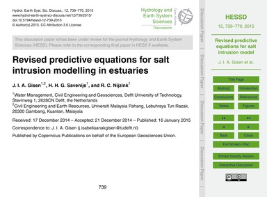 Revised Predictive Equations for Salt In... by Gisen, J. I. A.