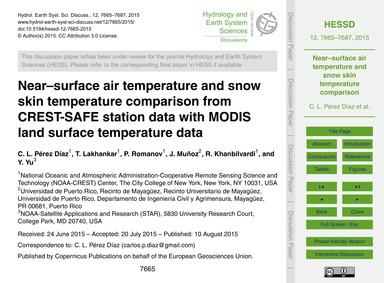 Near–surface Air Temperature and Snow Sk... by Pérez Díaz, C. L.