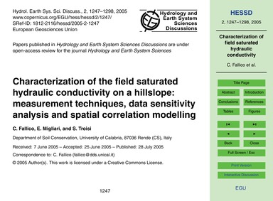Characterization of the Field Saturated ... by Fallico, C.