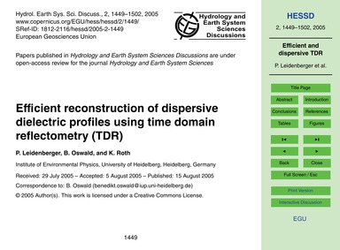 Efficient Reconstruction of Dispersive D... by Leidenberger, P.