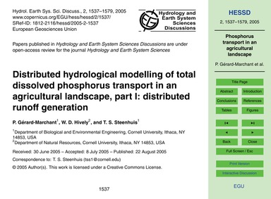 Distributed Hydrological Modelling of To... by Gérard-marchant, P.