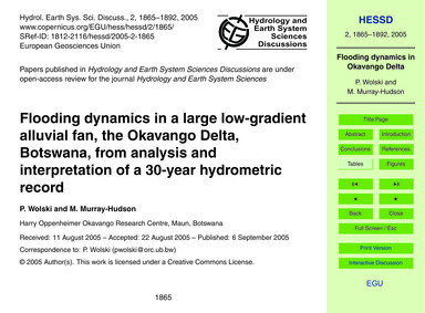 Flooding Dynamics in a Large Low-gradien... by Wolski, P.