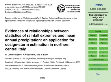 Evidences of Relationships Between Stati... by Di Baldassarre, G.
