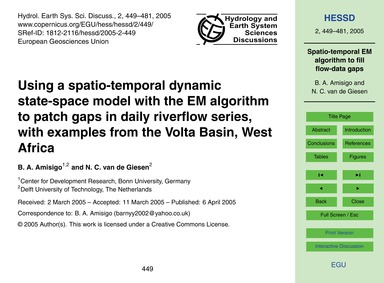 Using a Spatio-temporal Dynamic State-sp... by Amisigo, B. A.