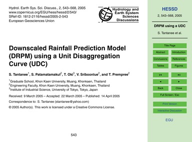 Downscaled Rainfall Prediction Model (Dr... by Tantanee, S.