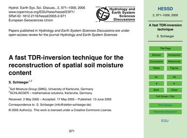 A Fast Tdr-inversion Technique for the R... by Schlaeger, S.