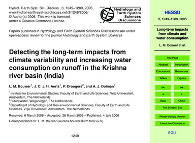 Detecting the Long-term Impacts from Cli... by Bouwer, L. M.