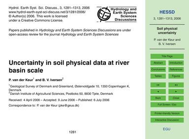 Uncertainty in Soil Physical Data at Riv... by Van Der Keur, P.