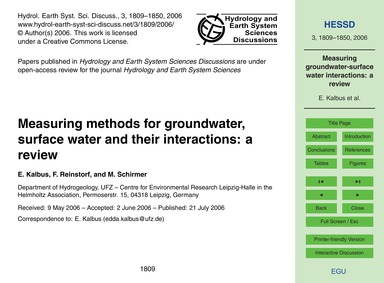 Measuring Methods for Groundwater, Surfa... by Kalbus, E.