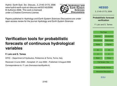 Verification Tools for Probabilistic For... by Laio, F.