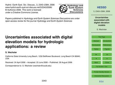 Uncertainties Associated with Digital El... by Wechsler, S.