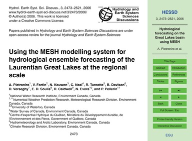 Using the Mesh Modelling System for Hydr... by Pietroniro, A.