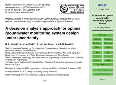 A Decision Analysis Approach for Optimal... by Yenigül, N. B.