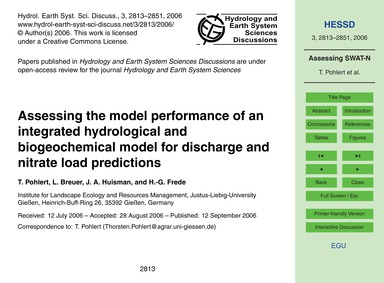 Assessing the Model Performance of an In... by Pohlert, T.