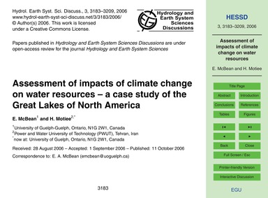 Assessment of Impacts of Climate Change ... by McBean, E.