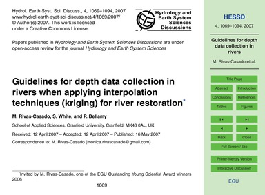 Guidelines for Depth Data Collection in ... by Rivas-casado, M.