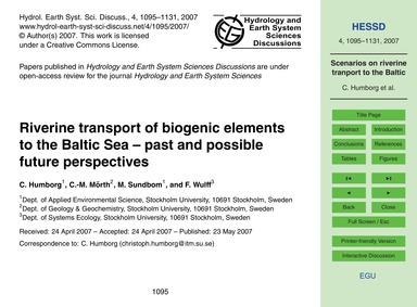 Riverine Transport of Biogenic Elements ... by Humborg, C.