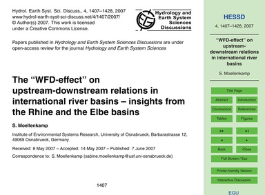 The Wfd-effect on Upstream-downstream Re... by Moellenkamp, S.
