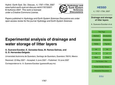 Experimental Analysis of Drainage and Wa... by Guevara-escobar, A.