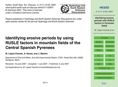 Identifying Erosive Periods by Using Rus... by López-vicente, M.