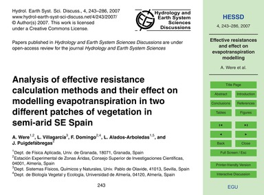 Analysis of Effective Resistance Calcula... by Were, A.