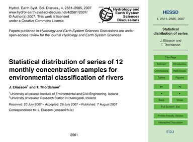 Statistical Distribution of Series of 12... by Eliasson, J.