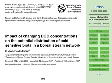 Impact of Changing Doc Concentrations on... by Laudon, H.