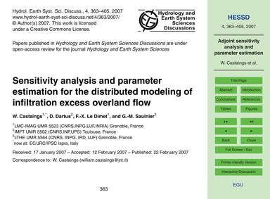 Sensitivity Analysis and Parameter Estim... by Castaings, W.