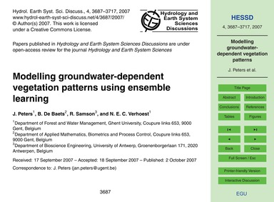 Modelling Groundwater-dependent Vegetati... by Peters, J.