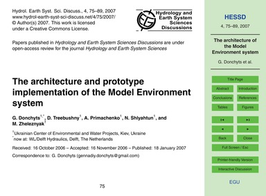 The Architecture and Prototype Implement... by Donchyts, G.