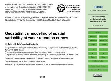 Geostatistical Modeling of Spatial Varia... by Saito, H.