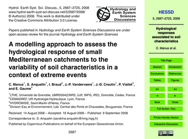 A Modelling Approach to Assess the Hydro... by Manus, C.