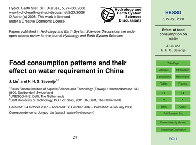 Food Consumption Patterns and Their Effe... by Liu, J.