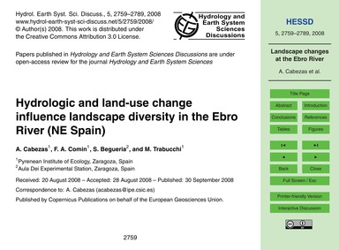 Hydrologic and Land-use Change Influence... by Cabezas, A.